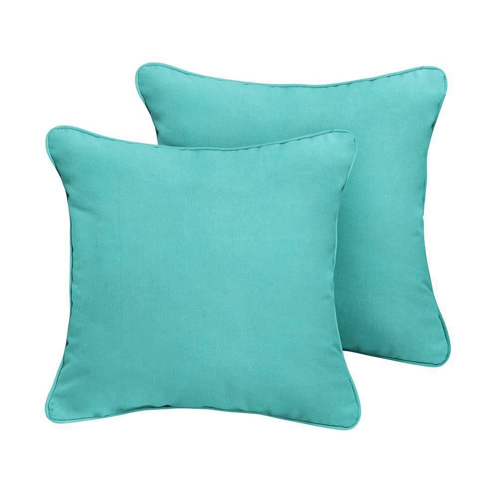 Image of Sunbrella 2pk Canvas Outdoor Throw Pillows Aruba