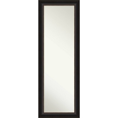 "18"" x 52"" Trio Oil Rubbed Framed On the Door Mirror Bronze - Amanti Art"