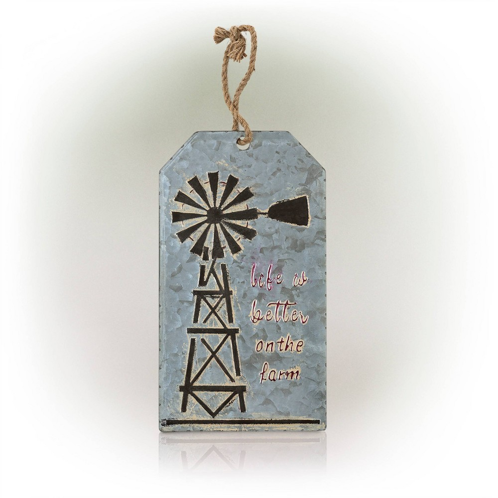 Alpine 17 34 Life Is Better On The Farm Metal Hanging Wall Decor Gray