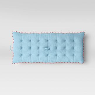 Kids Lounge Mat with Pom Poms Turquoise - Pillowfort™