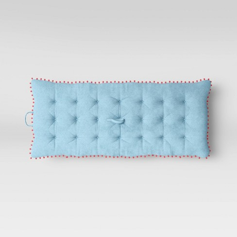 Kids Lounge Mat with Pom Poms Turquoise - Pillowfort™ - image 1 of 3
