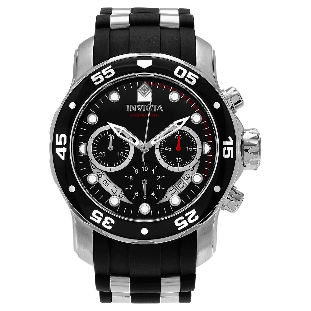 Men's Invicta 21927 Pro Diver Quartz Multifunction Black Dial Link Watch - Black
