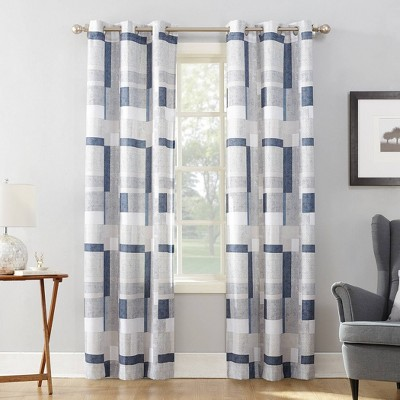 Takumi Geometric Blocks Light Filtering Grommet Top Curtain Panel - No. 918