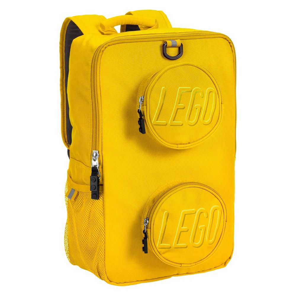 "Image of ""LEGO 16"""" Brick Kids' Backpack - Yellow"""