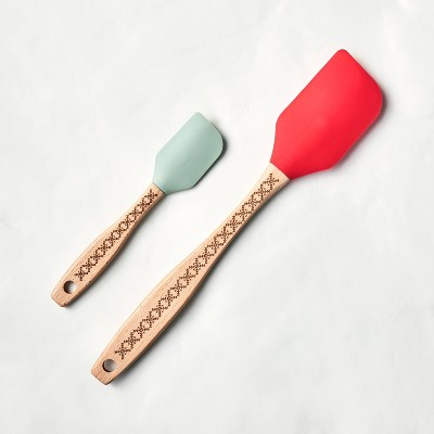 2pc Spatula Set Red/Mint - Hearth & Hand™ with Magnolia