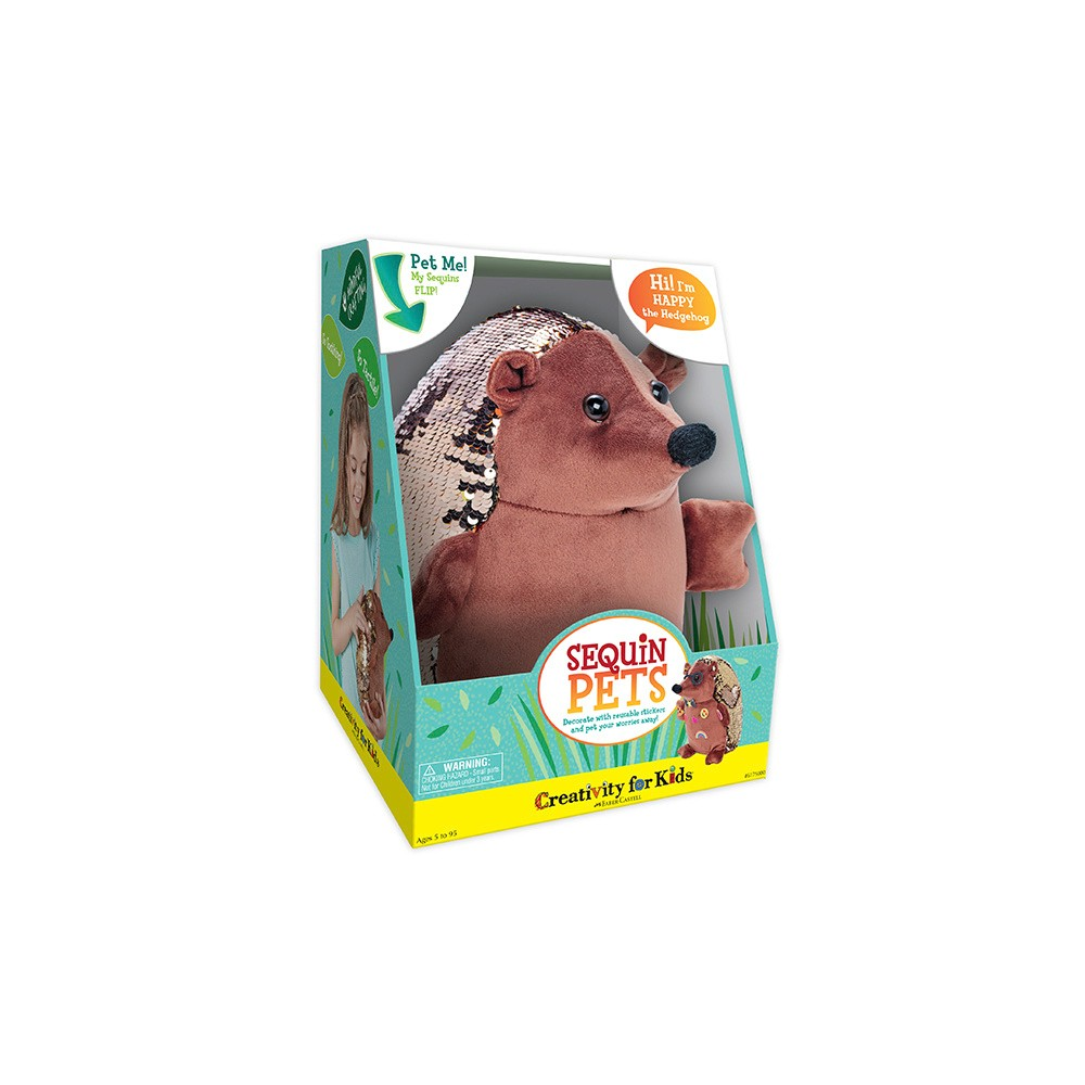 Sequin Hedgehog Activity Kit - Creativity for Kids
