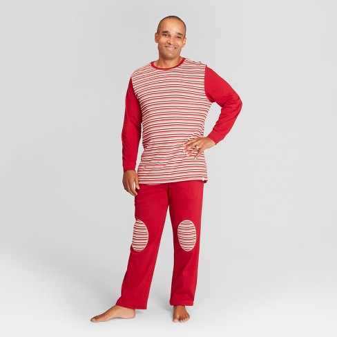 d1b39292fe Burt s Bees Baby Men s Striped Holiday Candy Cane Pajama Set - Red S ...