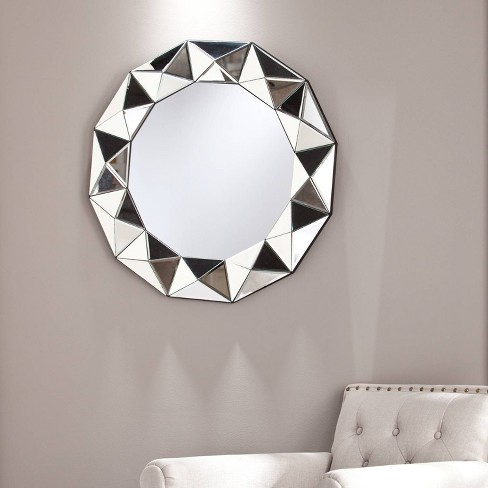 Trester Decorative Wall Mirror Silver - Aiden Lane - image 1 of 3