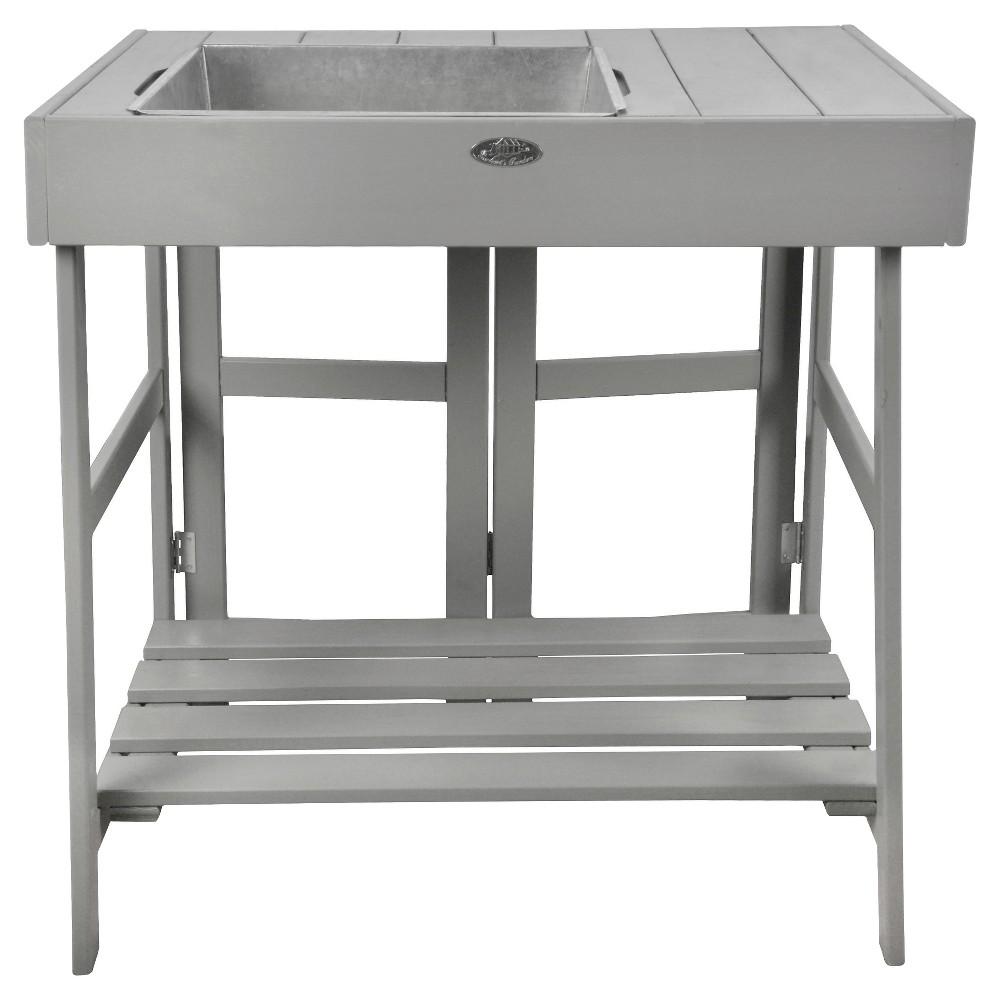 Potting Table Gray Wood 31x23x32