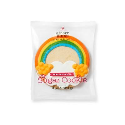 St. Patrick's Day Rainbow Sugar Cookie - 2.12oz - Archer Farms™