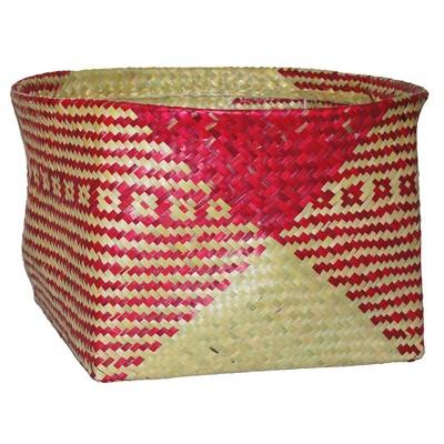 10.83 x17.7  Decorative Palm Leaf Basket Pink - Opalhouse™