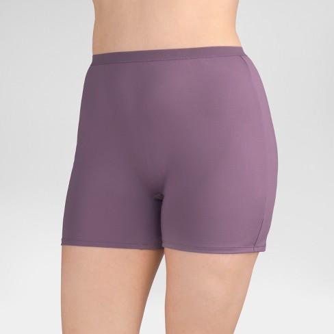 29f540e6992 Fit For Me® By Fruit Of The Loom® Women s 4-pk Microfiber Slip Shorts  (Colors May Vary) - Size 10   Target