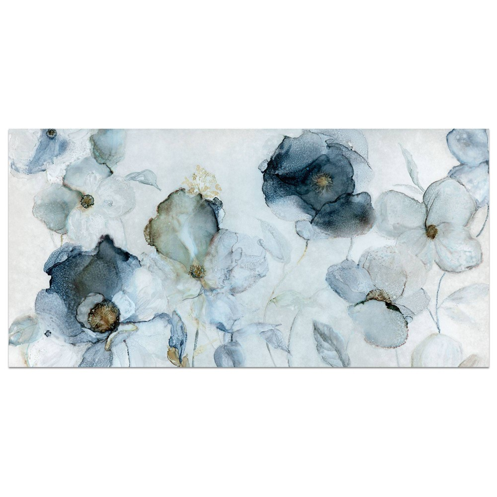 """Image of """"17"""""""" x 34"""""""" Flowering by Carol Robinson Wrapped Unframed Wall Art Canvas Blue - Fine Art Canvas, Size: 17"""""""" x 34"""""""""""""""