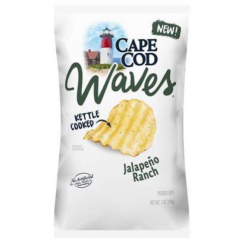 Cape Cod Jalapeno Ranch Waves Potato Chips - 7oz - image 1 of 1