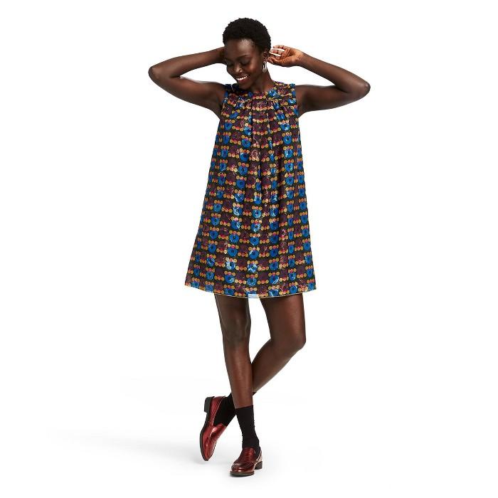 Women's Metallic Circles Sleeveless Round Neck Shift Mini Dress - Anna Sui for Target Black - image 1 of 5