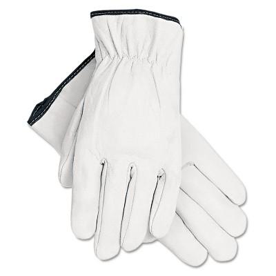 Memphis Grain Goatskin Driver Gloves White Large 12 Pairs 3601L