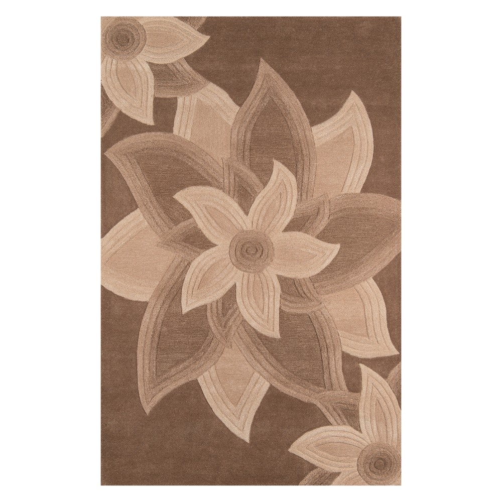 5'X8' Floral Tufted Area Rug Mocha (Brown) - Momeni
