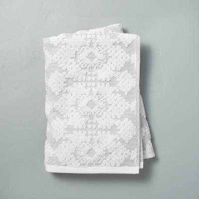 Geo Medallion Bath Sheet Jet Gray - Hearth & Hand™ with Magnolia