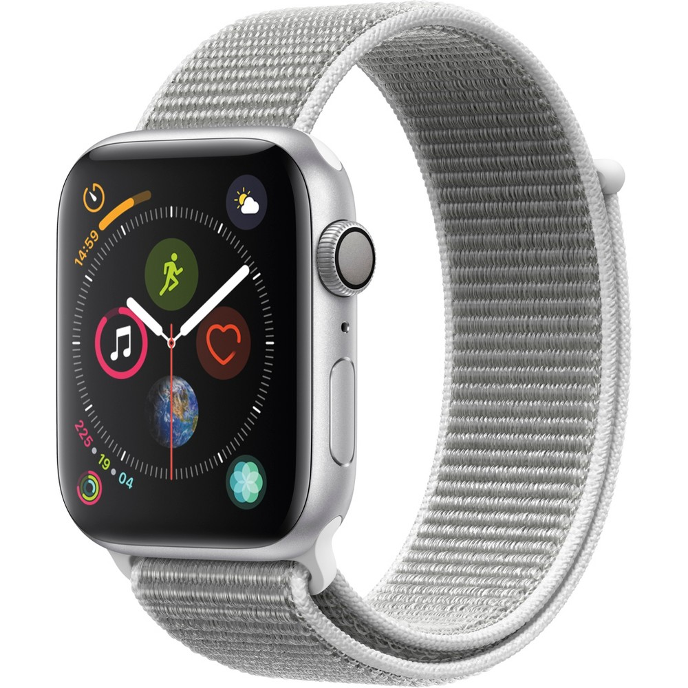 Apple Watch Series 4 Gps 44mm Silver Aluminum Case with Sport Loop - Seashell, Seashell Sport Loop
