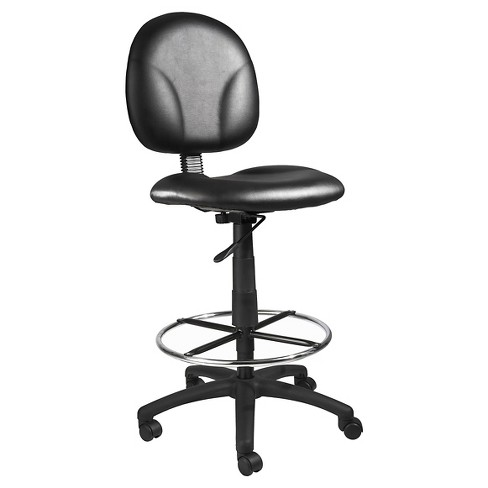 Fabric Drafting Stools with Footring Black - Boss Office Products - image 1 of 7