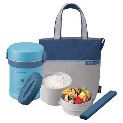 Zojirushi Ms. Bento 21oz Stainless Lunch Jar - Aqua Blue