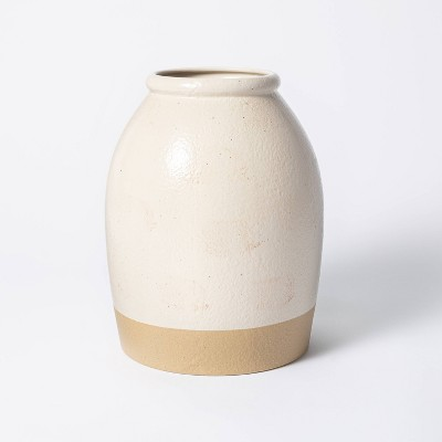 "11"" x 8"" Crock Stoneware Vase Beige - Threshold™ designed with Studio McGee"