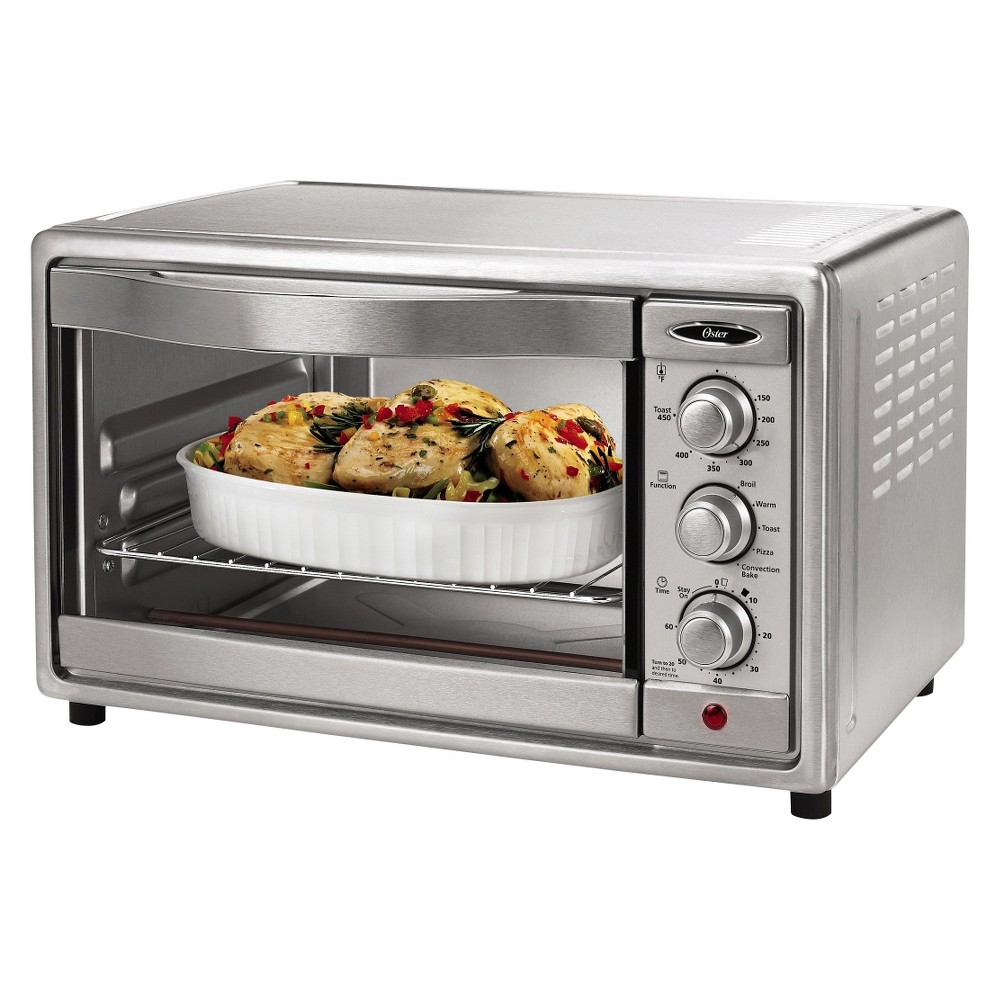 Oster 6-Slice Convection Toaster Oven, Brushed Stainless Steel (Silver), TSSTTVRB04 13985586