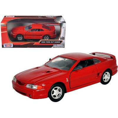 1998 Ford Mustang SVT Cobra Red 1/24 Diecast Model Car by Motormax