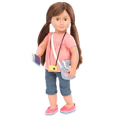 Our Generation Deluxe Travel Doll with Book - Reese