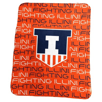 NCAA Logo Brands Classic Fleece Throw Blanket