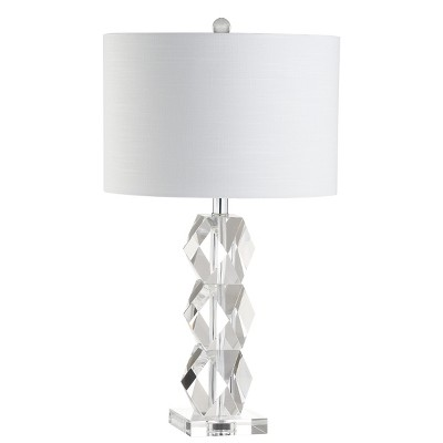 "26"" Sofia Crystal Led Table Lamp Clear (Includes Energy Efficient Light Bulb)   Jonathan Y by Jonathan Y"