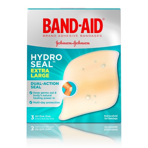 Band-Aid Brand Hydro Seal Extra Large Adhesive Bandages - 3ct - image 1 of 4