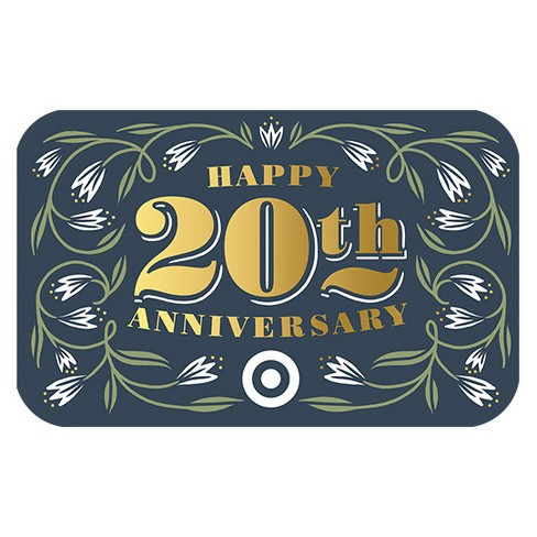 happy 20th anniversary gift card target