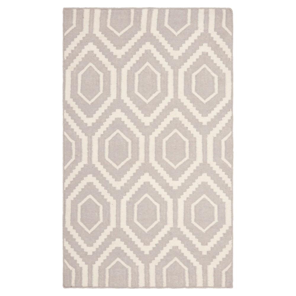 Cheap Taza Dhurry Rug - Gray Ivory - (3x5) - Safavieh