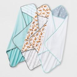 Baby 3pk Hooded Bath Towel - Cloud Island™ One Size