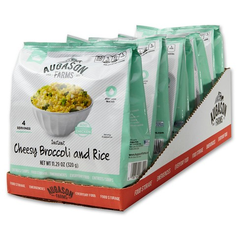 Augason Farms Instant Cheesy Broccoli and Rice - 6ct - image 1 of 5