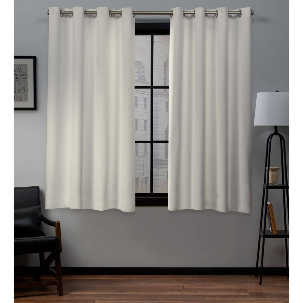 """Coupons Set of 2 84""""x54"""" Academy Total Blackout Grommet Top Curtain Panel  - Exclusive Home"""