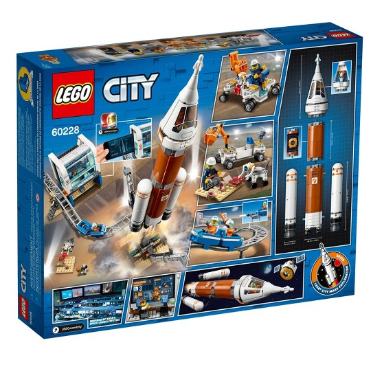 LEGO City Space Deep Space Rocket and Launch Control 60228 Model Rocket Building Kit with Minifigures image number null