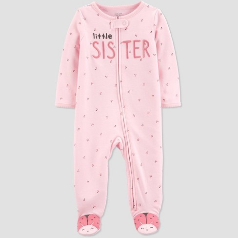 Baby Girls' Little Sister Sleep N' Play - Just One You® made by carter's Pink - image 1 of 3