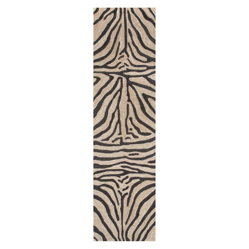 Black Abstract Tufted Runner - (2'x8') - Liora Manne