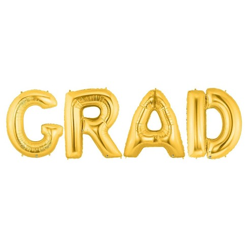"""GRAD"" Jumbo Gold Foil - image 1 of 1"
