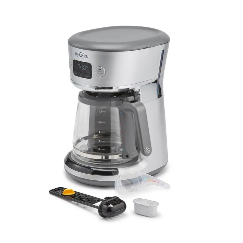 Mr. Coffee Easy-Measure 12-Cup Programmable Coffee Maker – Silver - image 1 of 4