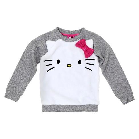 6f9f8726754e Baby Girls  Hello Kitty Sweatshirt - Gray   Target