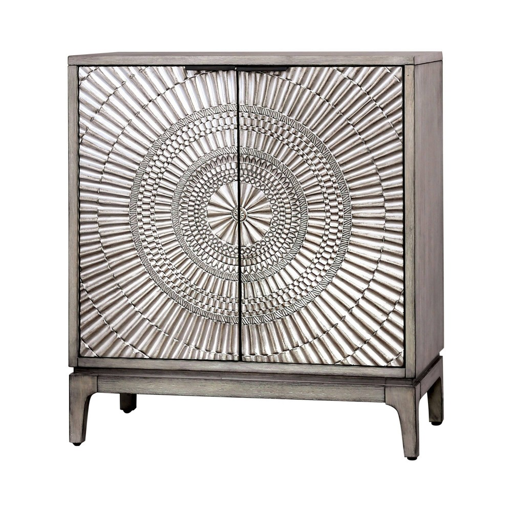 Atwater 2 Door Nightstand Antique Gray Homes Inside Out