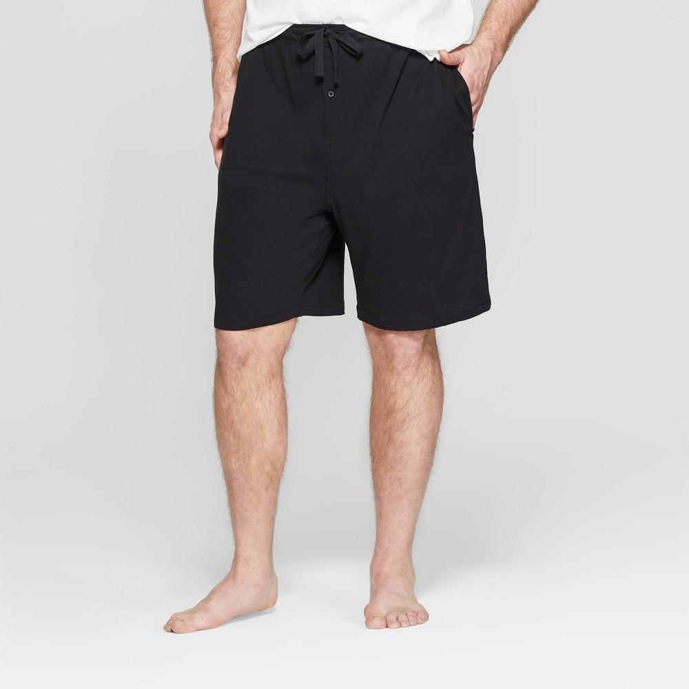 Men S Big Tall 9 Knit Pajama Shorts Goodfellow Co 8482 Black 3xb