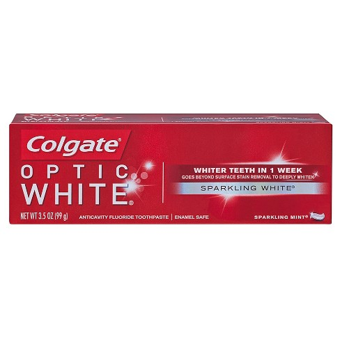 Colgate Optic White Whitening Toothpaste Sparkling White 3 5oz