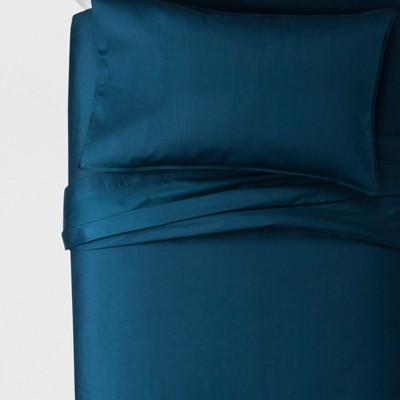 Queen 300 Thread Count Modern Sheet Set Dark Blue - Project 62™ + Nate Berkus™