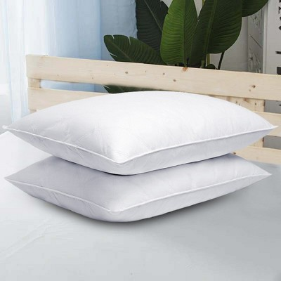 Puredown Quilted Goose Down Feather Pillow