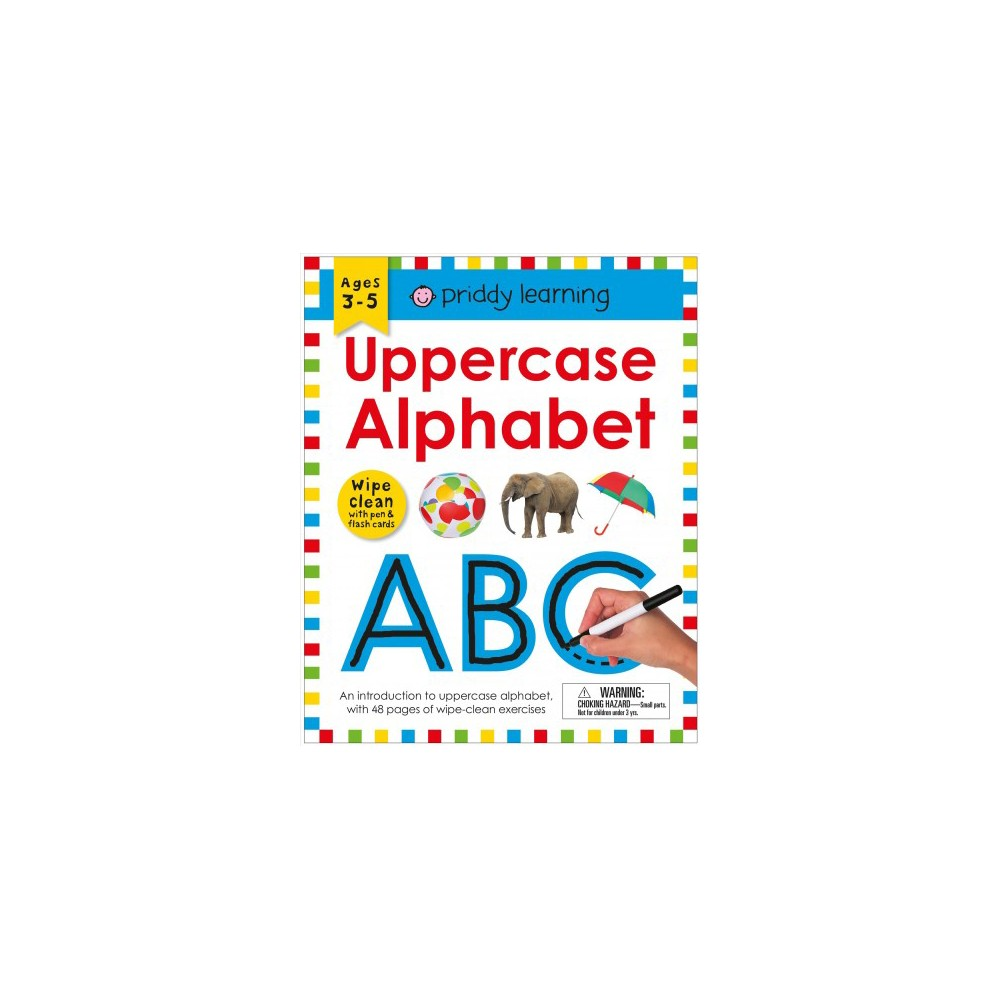 Uppercase Alphabet : Wipe Clean - Pap/Crds/A (Priddy Learning) (Paperback)