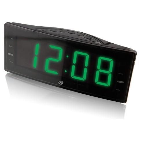 GPX Digital AM/FM Dual Alarm Clock Radio - Black (C353B) - image 1 of 3